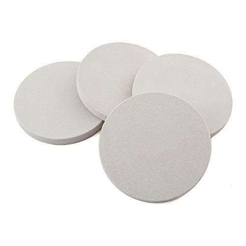 Thirstystone Sandstone Wood Coaster 4 inch round Plain set wHolder