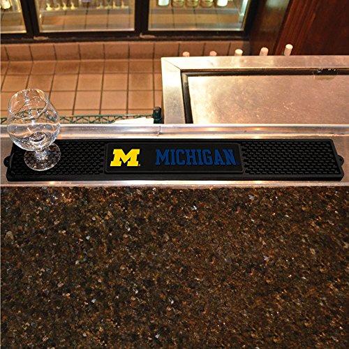 Fanmats Home Indoor Sports Team Logo University of Michigan Drink Mat 325x24