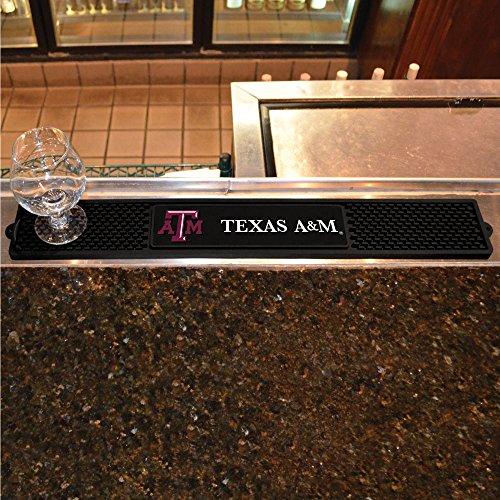 Fanmats Sports Team Logo Design Texas A&M University Rubber Non Spill Safe Serving Bar Kitchen Drink Mat 325x24