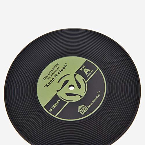 Retro Vinyl CD Album Record Drink Coaster Bar Table Glass Cup Skid Mat Holder Yellow