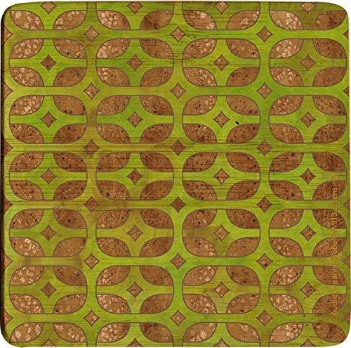 Thirstystone Bamboo Coaster Set Olive Lattice S4