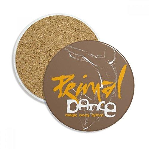 Graffiti Street Music Body Solo Stone Drink Ceramics Coasters for Mug Cup Gift 2pcs