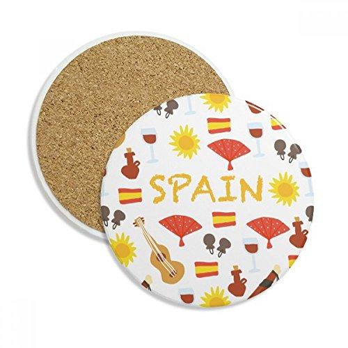 Spain Flamenco Music Food Stone Drink Ceramics Coasters for Mug Cup Gift 2pcs
