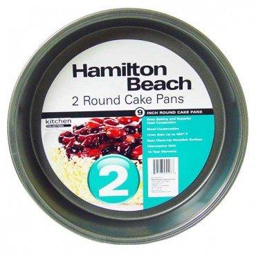 Hamilton Beach Set of 2 Non-Stick Round 9 Cake Pans