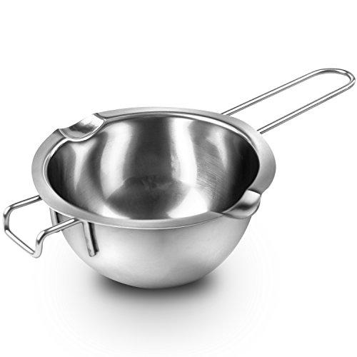 Super Double Boiler Pots Insert Pan188 Stainless Steel 2 Cups Capacity 2 Pour SpoutsChocolate Melting Pots