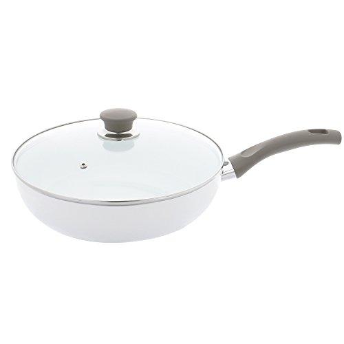 BALLARINI 75001-596 Tropea Veggie Aluminium Ceramic Nonstick Saute Pan with Lid NA 4 quart
