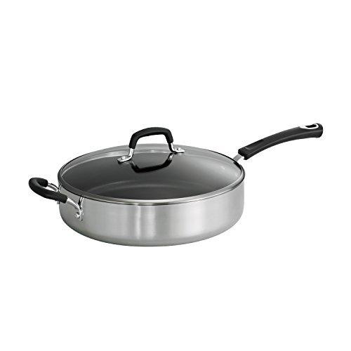 Tramontina Style 55-Quart Aluminum Non-stick Polished Covered Saute Pan