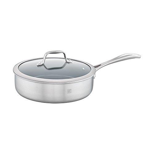 ZWILLING Spirit 3-ply 3-qt Stainless Steel Ceramic Nonstick Saute Pan