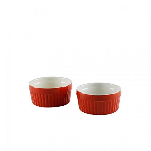Kabalo Souffle Dessert Pudding Snack Muffin Cupcake Crème Brulee Bowl Set Of 2 Red Kitchen Ceramic Ramekin Dish