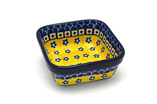 Polish Pottery Ramekin - Square - Sunburst