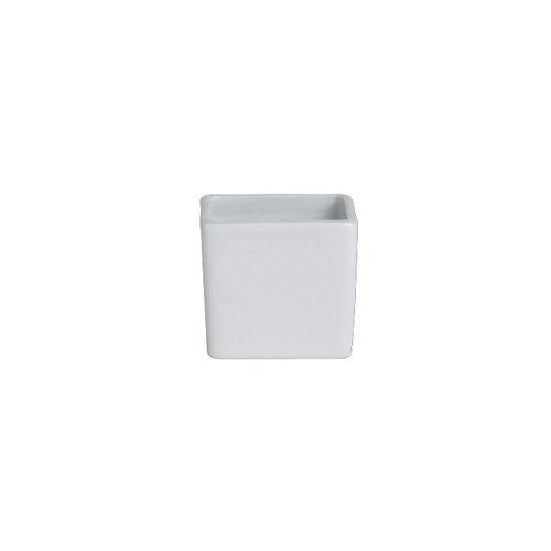 Steelite 6900E593 Cafe Porcelain 3 Oz Square Deep Ramekin - 36  CS