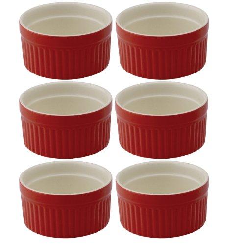 Mrs Anderson's Baking Souffle Ramekin Ceramic Earthenware Rose Set of 6 325-Inch 4-Ounce Capacity