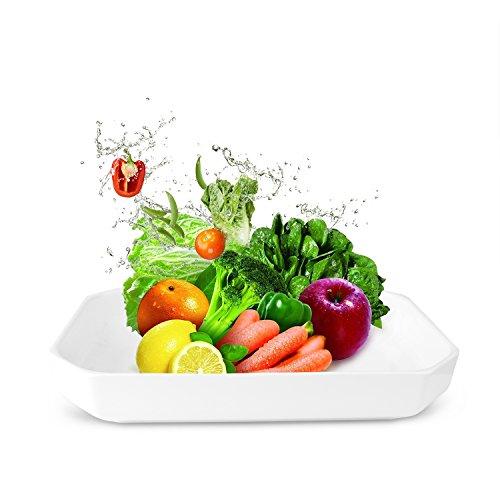 Mobaa Melamine Fruit Plates Rectangular 128 Serving Plate Cheese Trays Platter Breads Desserts Bowl Dish