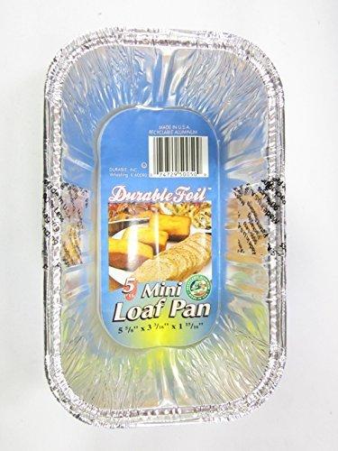 15 Disposable Aluminum Mini Loaf pans