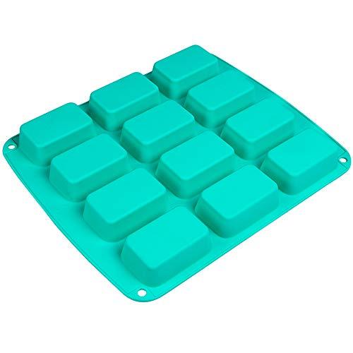 Webake Brownie Pan Silicone Mini Loaf Pan Rectangular Bar Mold For Soap Candy Bread Baking Butter Granola Snacks Keto Fat Bomb and Energy BarLFGB Standard