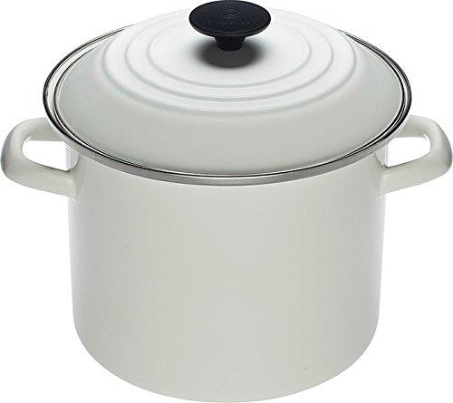 Le Creuset Enamel-on-Steel 8-Quart Covered Stockpot White