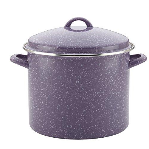Paula Deen Enamel on Steel Covered Stockpot 12 quart Lavender Speckle