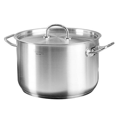 MICHELANGELO Premium Stainless Steel Stock Pot with Lid Classic 10 Qt Stainless Steel Pot With Lid Induction Cookware Large Pot 10 Qt Stainless Steel Pasta Pot Large Sauce Pan 10 Quart Soup Pot