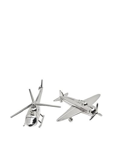 GODINGER SILVER ART AirplaneChopper Salt and Pepper Set