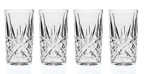 Godinger Silver Art Dublin Collection 11 Oz Leaded Crystal Highball Glasses Set of 6