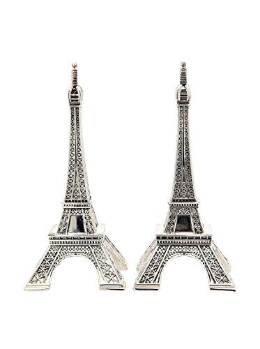 Godinger Silver Metal Eiffel Tower Salt and Pepper Shakers