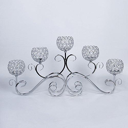 5 Head Crystal Wedding Centerpiece Table Centerpiece Candle Holder Flower Holder