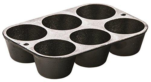 Lodge L5P3 Cast Iron Cookware Mini MuffinCornbread Pan Pre-Seasoned