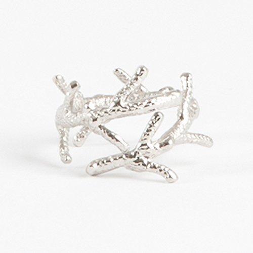 Elegant Nautical Design Silver Napkin Rings Set of 4 Coral branch