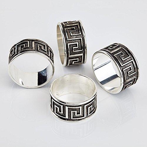 Keltic Silver Napkin Rings Set of 4pc
