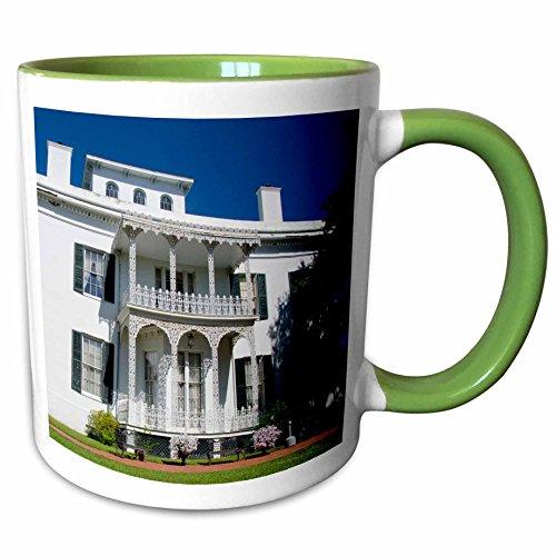 3dRose Danita Delimont - Houses - USA Mississippi Natchez Stanton Hall house - US25 CMI0006 - Cindy Miller Hopkins - 11oz Two-Tone Green Mug mug_144741_7