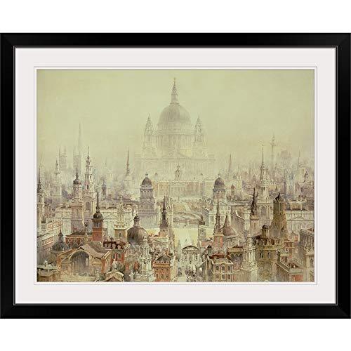 GREATBIGCANVAS A Tribute to Sir Christopher Wren Black Framed Wall Art Print24 x18 x1