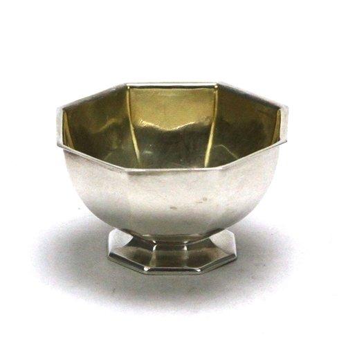 Salt Dip by William W Hayden Co Sterling Faceted Design
