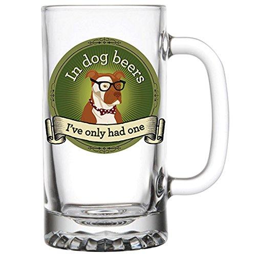 Barstool Philosopher 16-Ounce Beer Mug In Dog Beers