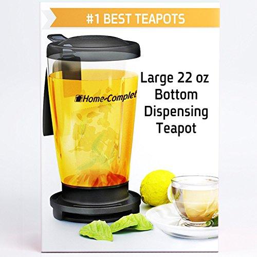 Perfect Loose Tea Maker -22 Oz Smart Bottom Dispensing Tea Infuser Teapot - Different From Teavana Ingenuitea