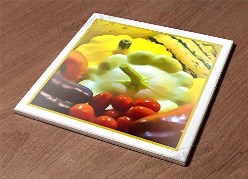 Ceramic Hot Plate kitchen Trivet Holder veggies market food wholesome healthy