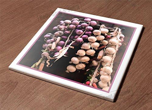 Ceramic Hot Plate kitchen Trivet fresh onion vegy diet health organic natural