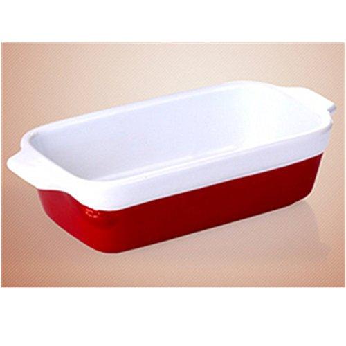 KAKATM Kitchen Tool Heat-resistant Rectangle Ceramic Hotplate Baked Baked Rice Bowl
