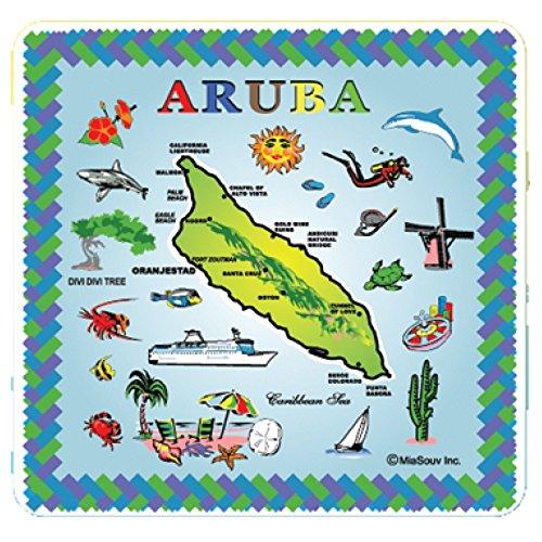 Tile 6 x 6 Map of Aruba Kitchen Trivet Holder Ceramic Hot Plate Tile