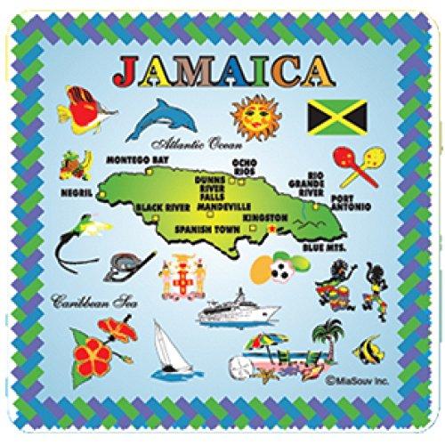 Tile 6 x 6 Map of Jamaica Kitchen Trivet Holder Ceramic Hot Plate Tile