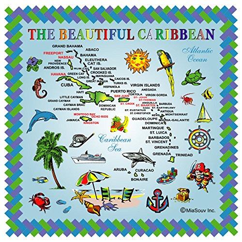 Tile 6 x 6 Map of The Caribbean Kitchen Trivet Holder Ceramic Hot Plate Tile