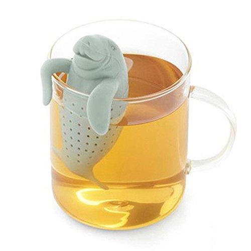 Tea Infuser,Justdolife Silicone Manatee Shape Tea Bag Reusable Loose Leaf Tea Strainer Filters