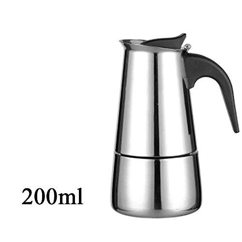 WEKA Elegant 304 Stainless Steel Moka Coffee Tea Maker Pot Extractor Valve Home Office Stove 200ML4 cup