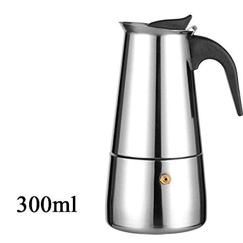 WEKA Elegant 304 Stainless Steel Moka Coffee Tea Maker Pot Extractor Valve Home Office Stove 300ML6 cup