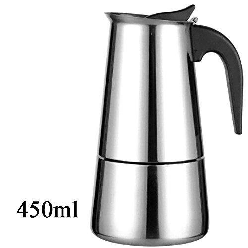 WEKA Elegant 304 Stainless Steel Moka Coffee Tea Maker Pot Extractor Valve Home Office Stove 450ML9 cup