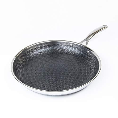 Hexclad Hybrid Nonstick Cookware 12 Frying Pan PFOA Free Metal Utensil Safe Induction Ready