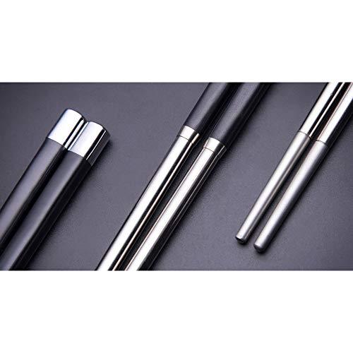 Ffzhushengmy Reusable Chopsticks Chinese Chopsticks Set of High-Grade Tableware Anti-SkidMildew 243x07 cm Chopsticks - Stainless Steel Chopsticks Set