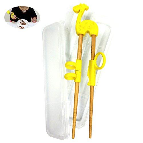 Dancepanda Training chopstickChopstick Helper for Children KidsNatural Wooden Training Chopsticks light wood