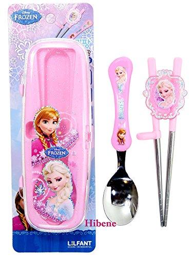 Disney Frozen Kids Training Chopsticks Spoon Case Set
