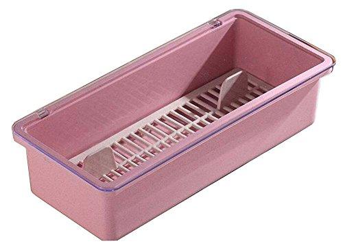 Alien Storehouse Pink Useful Chopsticks Box Flatware Storage Box Cutlery Organizer