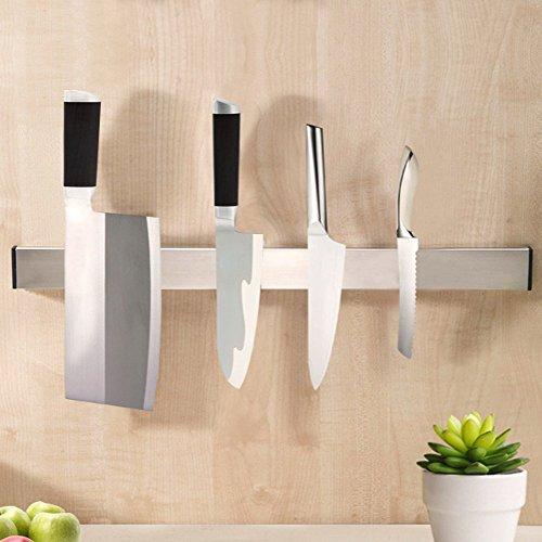 Magnetic Knife Holder UNILLAP Stainless Steel Magnetic Knife Bar Knife Rack Strip 16 Inch Magnetic Tool Organizer